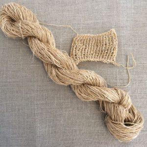 Onion Skin dyed Handspun Flax yarn