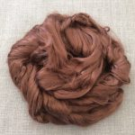 Earthy Brown Dyed Bamboo Combed Top Roving