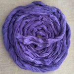 Purple Violet Dyed Bamboo Combed Top Roving