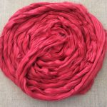 Cherry Red Dyed Bamboo Combed Top Roving
