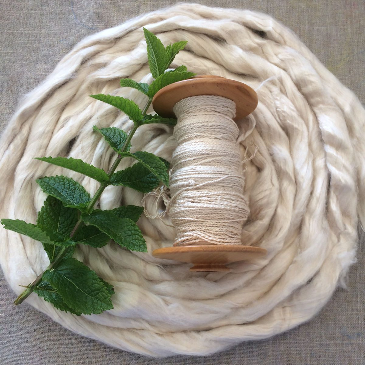 Spinning Mint Leaves