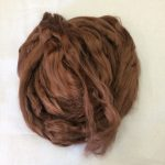 Earthy Brown Dyed Bamboo Viscose combed Top