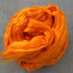 Orange Saffron Dyed Bamboo Viscose Combed Top