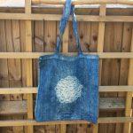 Shibori Dyed Market Bag Indigo