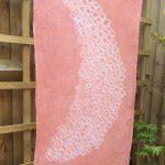 Shibori Dyed Linen Shawl Madder Root
