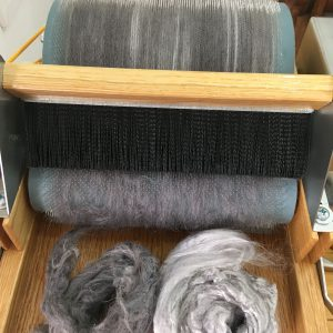 Logwood Dyed Hemp and Bamboo Blend Roving