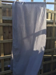 Shibori Logwood Dyed Cotton Scarf