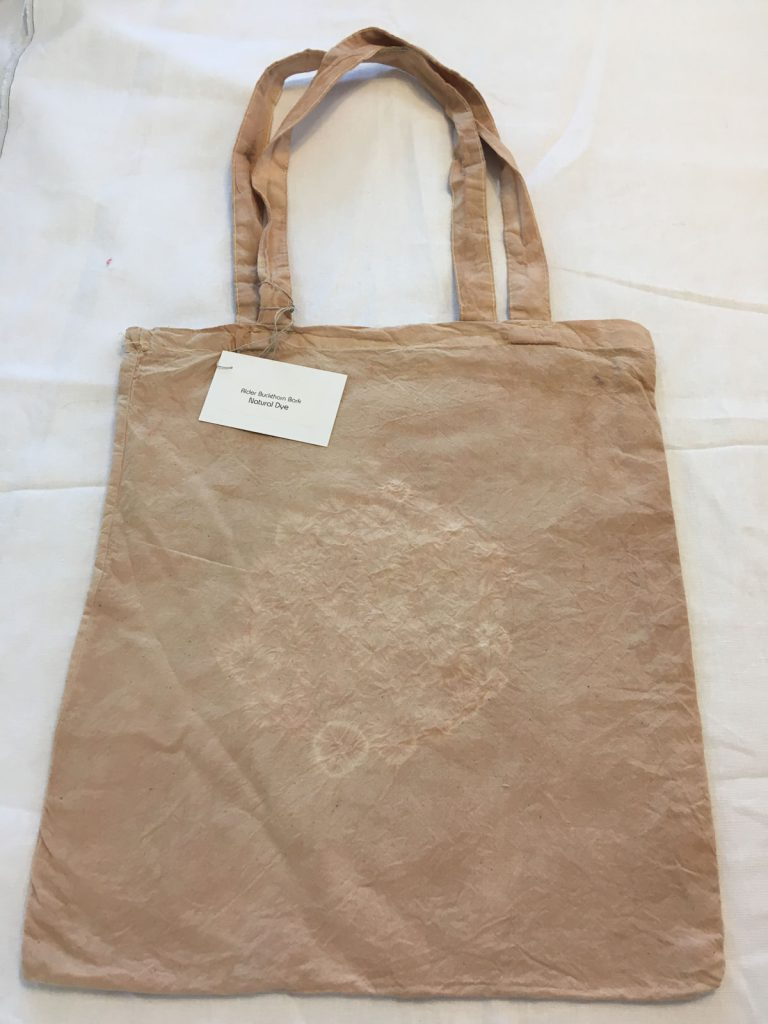 Alder Buckthorn dyed Tote Bag