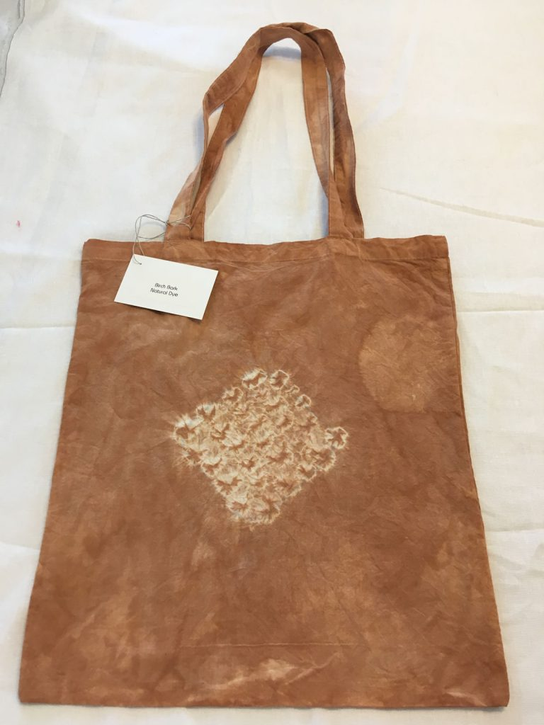 Birch Bark Dyed Tote Bag 1