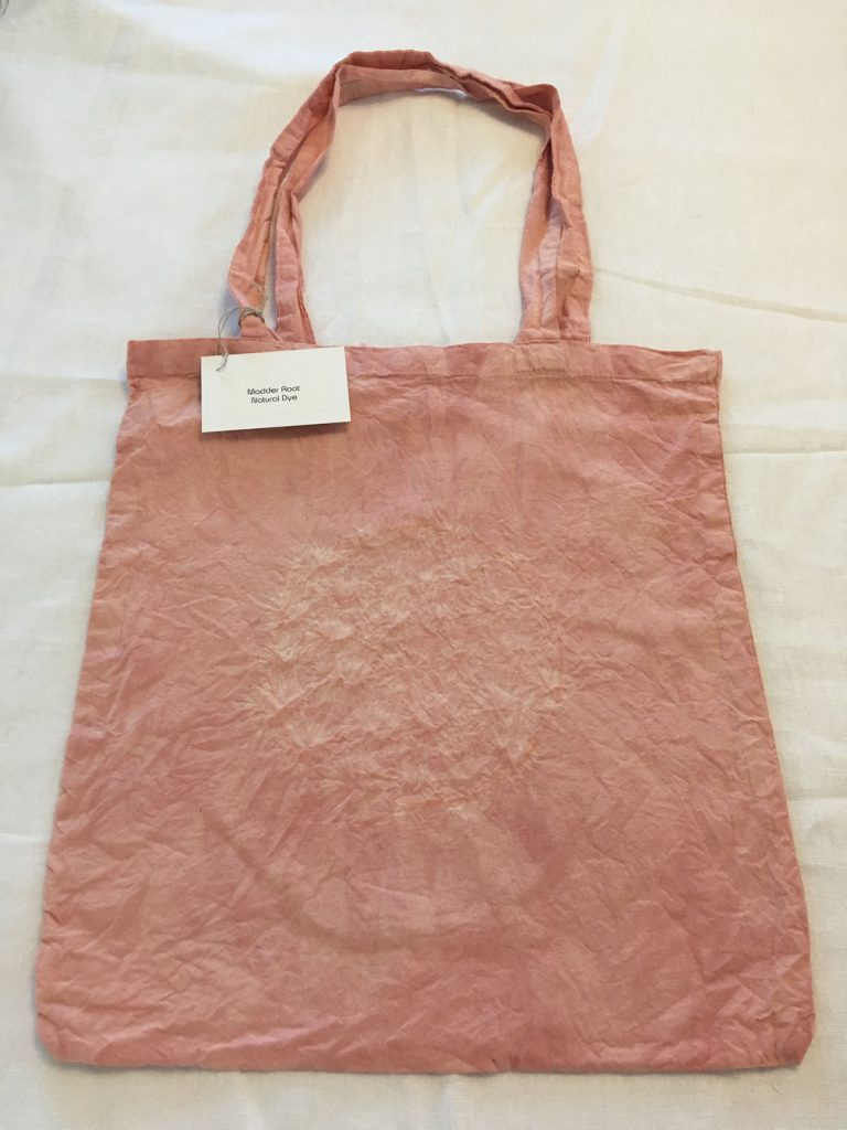 Madder Root Dyed Tote Bag 1