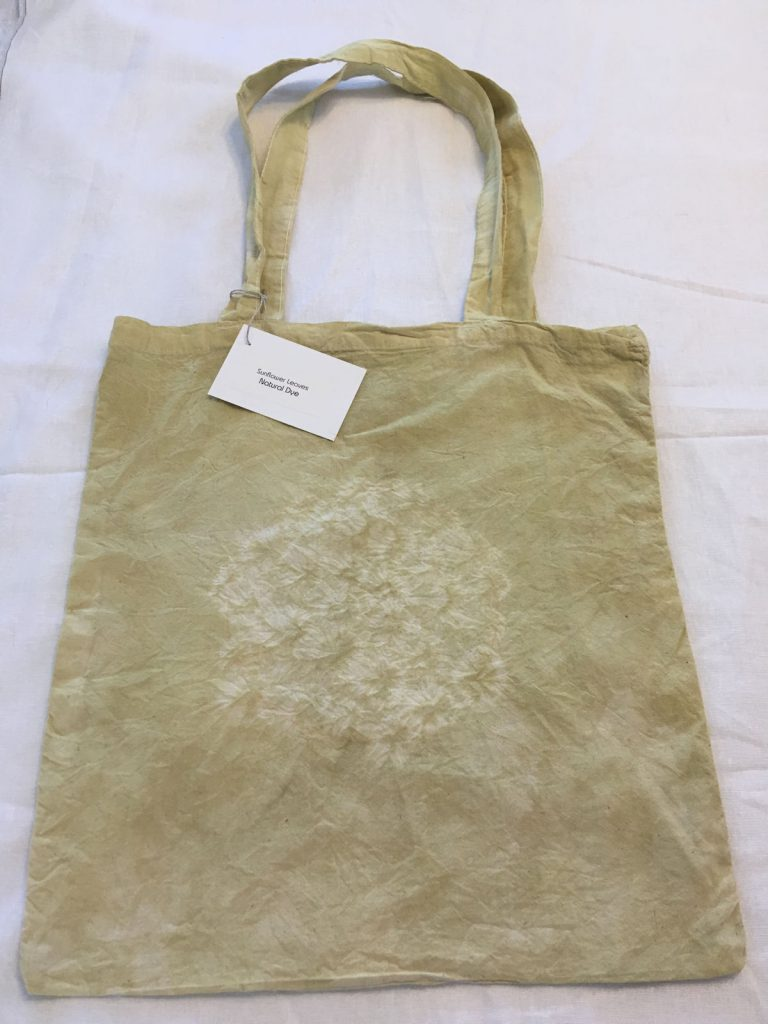 Sunflower Leaf Dyed Tote Bag 1